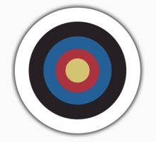 Bulls Eye, Archery, Target, Mod, Roundel, on WHITE Kids Tee
