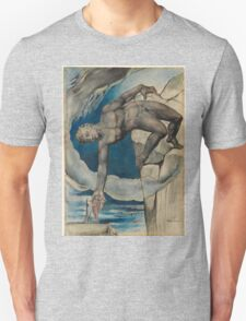 William Blake - Antaeus Setting Down Dante And Virgil In The Last Circle Of Hell. Man portrait: strong man, Antaeus ,  Setting,  Dante ,  Virgil,  Last Circle ,  Hell, smile, manly, sexy men, macho Unisex T-Shirt