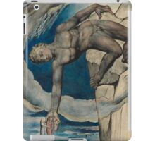 William Blake - Antaeus Setting Down Dante And Virgil In The Last Circle Of Hell. Man portrait: strong man, Antaeus ,  Setting,  Dante ,  Virgil,  Last Circle ,  Hell, smile, manly, sexy men, macho iPad Case/Skin