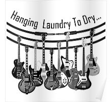 Hanging Laundry To Dry  Poster