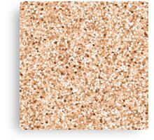 Faux Printed Rose Gold Glitter Canvas Print