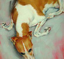 Chloe The Whippet by Margaret Stockdale