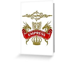 The Empress Coat-of-Arms Greeting Card