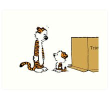 hobbes twin Art Print