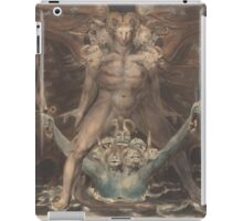 William Blake - The Great Red Dragon And The Beast From The Sea 1805. Man portrait: strong man,  Great,  Red Dragon , Dragon ,  Sea, Beast,  biblical,  bible,  horrific,  horror, myth iPad Case/Skin