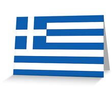 GREEK FLAG, Greece, Grecian Flag, sky blue white, blue white,  Greeting Card