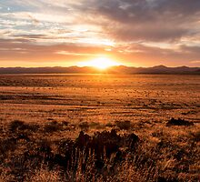 Sunset Over the Namib Desert by Marylou Badeaux