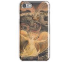 William Blake - The Great Red Dragon And The Woman Clothed With The Sun 1805. Myth:  Great,  Red Dragon , Dragon ,  Sea, Beast,  biblical,  bible,  horrific,  horror, woman, wings iPhone Case/Skin