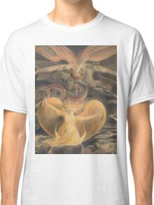 William Blake - The Great Red Dragon And The Woman Clothed With The Sun 1805. Myth:  Great,  Red Dragon , Dragon ,  Sea, Beast,  biblical,  bible,  horrific,  horror, woman, wings Classic T-Shirt