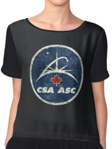 Vintage Emblem Canadian Space Agency Chiffon Top