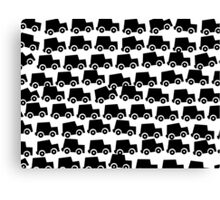 Black and White Cars Canvas Print