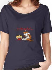 calvin and hobbes bad Women's Relaxed Fit T-Shirt