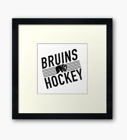 Bruins Hockey Framed Print