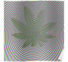 Trippy Colors White Poster