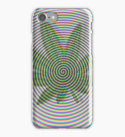 Trippy Colors White iPhone Case/Skin
