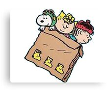 snoopy and friends in the box Canvas Print