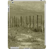 Barbed Wire Fence in a Field iPad Case/Skin