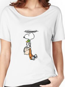 1snoopy flys Women's Relaxed Fit T-Shirt