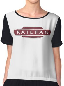 RAILFAN, RAIL, TRAINSPOTTER, enthusiast, Railway, Train, Train spotter, BRITISH RAILWAYS, SIGN Chiffon Top