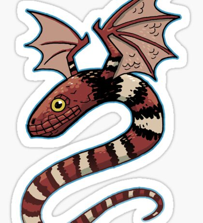 Lookout! Flying Snake! Sticker