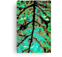 Psychedelic Leaf 1 Canvas Print