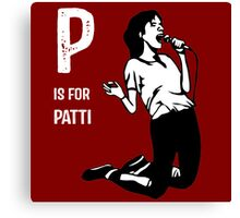 P Is For Patti Canvas Print