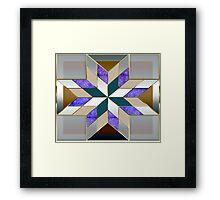 Metallized elegant and original design Framed Print