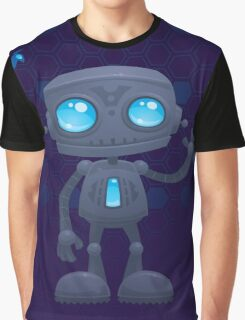Waving Robot Graphic T-Shirt