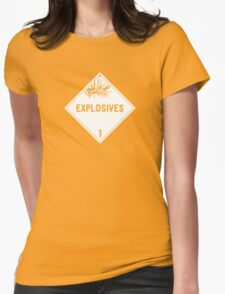 HAZMAT Class 1: Explosives Womens Fitted T-Shirt