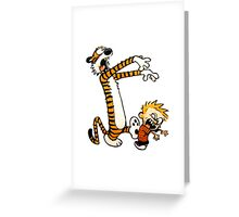 zombie calvin hobbes Greeting Card