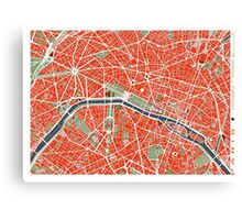 Paris city map classic Canvas Print