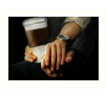 coffee and comfort Art Print