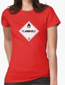 HAZMAT Class 3: Flammable Womens Fitted T-Shirt