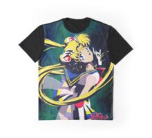 Super Sailor moon S Galaxy Graphic T-Shirt
