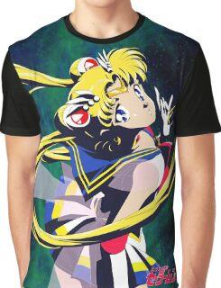 Super Sailor moon S Galaxy Graphic T-Shirt