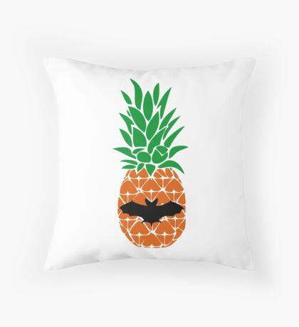 Batty PineApple Throw Pillow