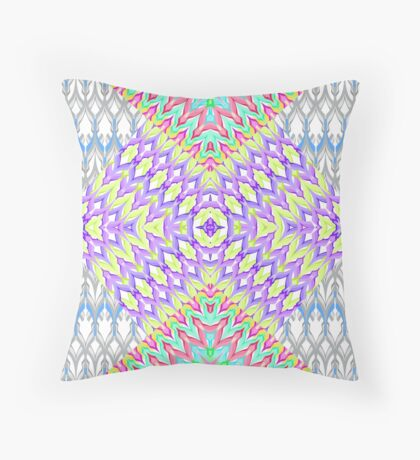 Multi-colored zigzag pattern . Throw Pillow