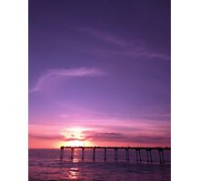 Sunset over pier Photographic Print