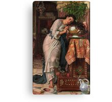 William Holman Hunt - Isabella And The Pot Of Basil 1867 Canvas Print