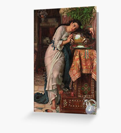 William Holman Hunt - Isabella And The Pot Of Basil 1867 Greeting Card