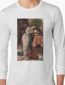 William Holman Hunt - Isabella And The Pot Of Basil 1867 Long Sleeve T-Shirt
