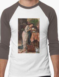 William Holman Hunt - Isabella And The Pot Of Basil 1867 Men's Baseball ¾ T-Shirt