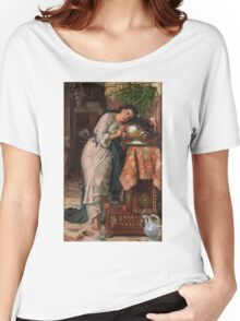 William Holman Hunt - Isabella And The Pot Of Basil 1867 Women's Relaxed Fit T-Shirt