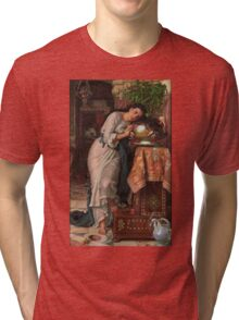 William Holman Hunt - Isabella And The Pot Of Basil 1867 Tri-blend T-Shirt
