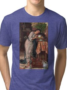 William Holman Hunt - Isabella And The Pot Of Basil 1867 Tri-blend T-Shirt