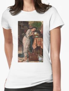 William Holman Hunt - Isabella And The Pot Of Basil 1867 Womens Fitted T-Shirt