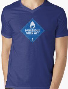 HAZMAT 4.3 Dangerous when Wet Mens V-Neck T-Shirt