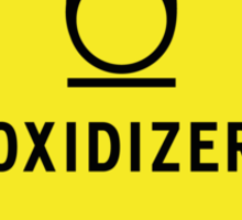 HAZMAT Class 5.1: Oxidizing Agent Sticker