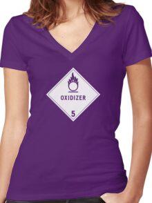 HAZMAT Class 5.1: Oxidizing Agent Women's Fitted V-Neck T-Shirt