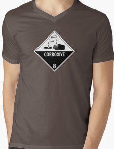HAZMAT Class 8: Corrosive Mens V-Neck T-Shirt